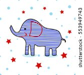 icon elephant. simple...   Shutterstock .eps vector #553949743