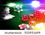 poker chips in casino gamble... | Shutterstock . vector #553951699