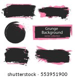 set of black and pink paint ... | Shutterstock .eps vector #553951900