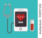 mobile health technology icon | Shutterstock .eps vector #553957150