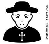 christian priest vector icon.... | Shutterstock .eps vector #553958938