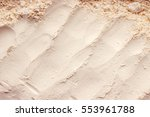 clay dry powder cosmetic... | Shutterstock . vector #553961788