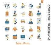 business and finance  flat icon ... | Shutterstock .eps vector #553962520
