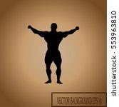 leader sign  winner  body... | Shutterstock .eps vector #553963810