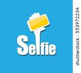taking selfie photo on smart... | Shutterstock .eps vector #553972234