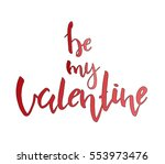 hand drawn vector red script.... | Shutterstock .eps vector #553973476