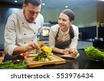 cooking lesson | Shutterstock . vector #553976434