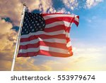 american flag on the background ... | Shutterstock . vector #553979674