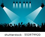 a concert hall  the silhouette... | Shutterstock .eps vector #553979920