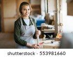 professional woodworker   Shutterstock . vector #553981660