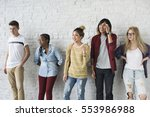 studio shoot people portrait... | Shutterstock . vector #553986988