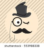 retro  vintage gentleman in a... | Shutterstock .eps vector #553988338