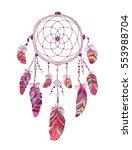 native american indian talisman ... | Shutterstock . vector #553988704