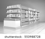 set of supermarket shelves with ... | Shutterstock . vector #553988728