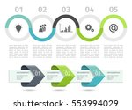 colorful infographic process... | Shutterstock .eps vector #553994029
