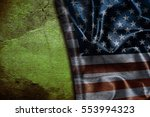 usa flag vintage background | Shutterstock . vector #553994323