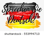 conceptual lettering with paint ... | Shutterstock .eps vector #553994713