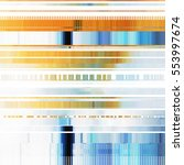 glitch abstract background with ... | Shutterstock .eps vector #553997674