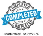 completed. stamp. sticker. seal.... | Shutterstock .eps vector #553999276