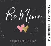 valentine day card with red and ... | Shutterstock .eps vector #553999756
