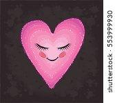vector heart cute. i love you....   Shutterstock .eps vector #553999930