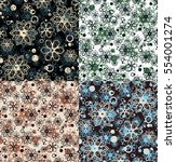 set of four patterns with hand... | Shutterstock .eps vector #554001274