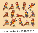 set vector stock illustration... | Shutterstock .eps vector #554002216