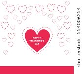 happy valentine's day  big heart | Shutterstock .eps vector #554006254