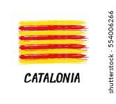 flag of catalonia    grunge   Shutterstock .eps vector #554006266