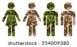 symbol of man or woman as... | Shutterstock .eps vector #554009380