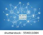 blockchain vector illustration... | Shutterstock .eps vector #554011084
