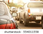 traffic jams in the city   rush ... | Shutterstock . vector #554011558