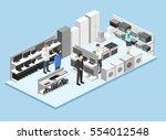 isometric flat 3d concept... | Shutterstock .eps vector #554012548