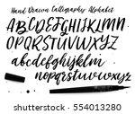 artistic calligraphic font.... | Shutterstock .eps vector #554013280