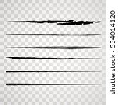 grunge paint stripe . vector... | Shutterstock .eps vector #554014120