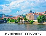 embankment of vltava river with ...   Shutterstock . vector #554014540