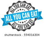 all you can eat. stamp. sticker.... | Shutterstock .eps vector #554016304