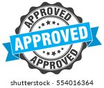 approved. stamp. sticker. seal. ... | Shutterstock .eps vector #554016364