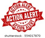 action alert. stamp. sticker.... | Shutterstock .eps vector #554017870