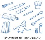 icon set of different cooking... | Shutterstock .eps vector #554018140