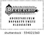 typography of barbershop font... | Shutterstock .eps vector #554021560