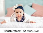 adorable two month old baby... | Shutterstock . vector #554028760