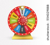 colorful wheel of luck or... | Shutterstock .eps vector #554029888
