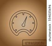 vector speedometer icon