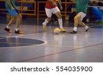 players in futsal hall | Shutterstock . vector #554035900