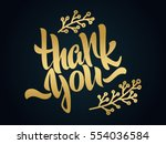 thank you lettering. hand... | Shutterstock .eps vector #554036584