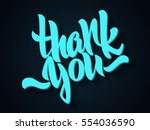 thank you lettering. hand... | Shutterstock .eps vector #554036590