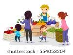 stickman illustration of a... | Shutterstock .eps vector #554053204