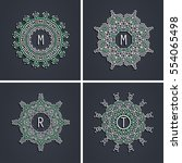 set of elegant linear abstract...   Shutterstock .eps vector #554065498