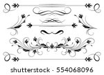 set vintage ornament and... | Shutterstock .eps vector #554068096